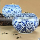 jingdezhen china blue and white ceramic storage Jars with lid                                                                         Quality Choice