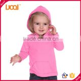LuoQi OEM Fancy Design Baby hoodie/100% Cotton Long Sleeve Pullover/Custom Wholesale Children Plain Hoodies For Kids                                                                         Quality Choice