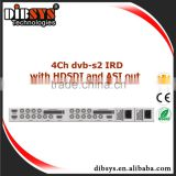 digital catv headend equipment Professional 4Ch Integrated Receiver digital tv Decoder with HD-SDI/AV and ASI out
