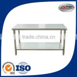 2 layers under shelf stainless steel craft work table