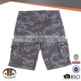 Wholesale Lot Brand Custom 6 Pocket Cotton Half Pants Mens 3/4 Cargo Shorts
