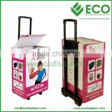 photo display stand box with wheels cardboard trolley box                                                                         Quality Choice