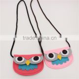 hot sale kids non-woven owl coin case, baby decorative animal style bag
