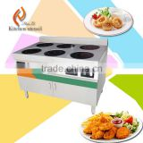 6 burns 2kw 380V ceramic glass big power commercial electric induction cooker stove for hoel restaurant MH12                                                                         Quality Choice