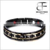 Stainless Steel Religious Magnetic Bracelets Negative Ions balance Germanium Infrared Ray bracelet