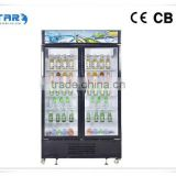 rear bumper impact support bar outside condenser 1000L VSC-1000 upright glass door refrigerator From China Supplier