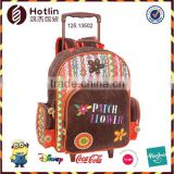 PATCH FLOWEER Lightweight Trolley School Backpack With Detachable Trolley