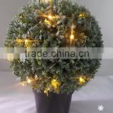 2016 new product Christmas supplier artificial boxwood ball topiary tree fake green bonsai with light for party decoration