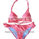 LUMO CORAL Moulded triangle padded foam bra removable cups with wider neckties