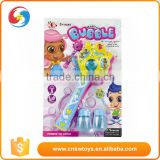Hot selling girl play toys plastic magic wand shape flash bubble gun                                                                         Quality Choice