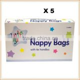 wholesale bnb-77 Disposable Baby Fragranced Scented Nappy Bags Hygienic Sack With Tie Handle