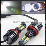 6000K Pure White 120W C ree Angel Eyes Front Headlight Kit Led H8 Fog Lamp for for BMW X5 E70 X6 E71 E90 E91 E92 M3 E60