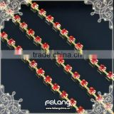 Lt siam rhinestone cup chain golden claw,MOQ 50m paypal accepted,sparse chain,rhinestone trimmings