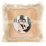 blank sublimation round shape disposable pillow case
