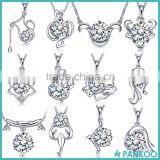 Wholesale Jewelry Zircon Charms 925 Sterling Silver Zodiac Ari Star Pendants