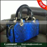 New fashion high-end genuine snake skin women handbag, woman bag brand luxury with large capacity from China manufactory
