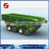 assembling of the temporary steel floating bridge bailey bridge for military amphibious armoured bridge vehicles for sale