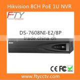 24 Hour Video Recorders Hivision DS-7608NI-E2/8P 8 Channel PoE Smart Watch NVR IP Camera