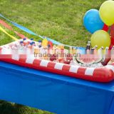 Red White Stripes Inflatable Buffet Salad Bar Serving Station