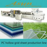 Price for Plastic PC hollow grid sheet extrusion machine