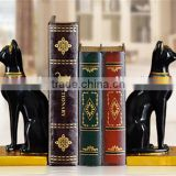 high quality modern black cat polyresin bookends for home decor