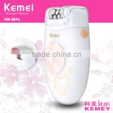 KM-3076 Hot Sale Electric Rechargeable Lady Shaver 2 in 1 Epilator & Foot Care Callous Remover