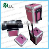 professional cosmetic trolley cases,beauty trolley boxes,cosmetic trolley case for nail beauty