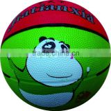 Pure eco-friendly materials custom print mini colorful rubber basketball for promotion or kids or gift