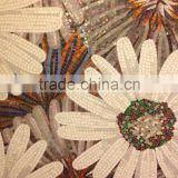 Factory sale Flowers Glass Mosaic Cutting backsplash Tile Wall Mural Sofa Background Wall entranceway bathroom
