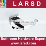 Bathroom chrome plated brass square single robe hook
