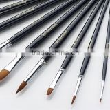 High Quality Student Paintbrush Woodle Handle Aluminum Nylon Hair Artist Oil Paint Brushe Set 12 Pcs Free Sample