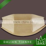 High quality disposable pine wood boat for food