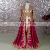 RSE651 Bronze And Burgundy Plus Size Dress For Muslim Mother Of The Bride Lace Dresses With Jacket