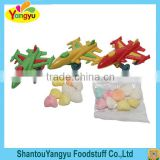 Super quality little boy love plastic small fighting plane toy with candy