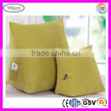 F047 Firm Filled Triangle Sofa Wedge Cushion Pillow Backrest Reading Corduroy Backrest Cushion for Sofa