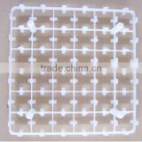 White 42 Eggs Plastic Quail Egg Tray For Poultry House