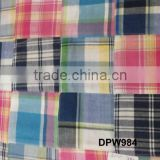 Madras Check Patchwork handmade pure fabrics For Chair