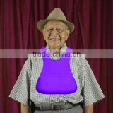 adult patient silicone bib apron vomit puke holder easy clean soft food grade