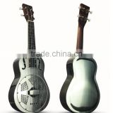 resonator ukulele with blues slide, copper alloy resonator ukulele, ukulele 23inch