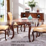 C6601 European Style 12 seater dining table/dining table oval extendable,antique dining table,large extendable dining table