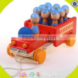 wholesale baby wooden carrier truck toy lovely kids wooden carrier truck toy children wooden carrier truck toy W04A168