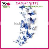 3D Blue And White Porcelain Series Butterflies Wall Stickers Home Living Room Decoration