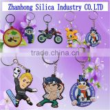 High Quality full color popular pvc key chain