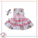 New arrivals! Toddler Little Girls Pink Flower Design Sleeveless frock dress pretty childrens dresses