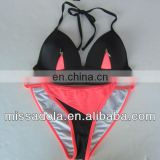 Sexy Fluo Pink and Black two pieces swimwear /Bikini