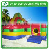 Popular inflatable fun city toy, large inflatable jumping castle with slides amusement park