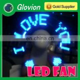 High quality mini fan with programmable message glovion programmable handy fan mini protable fan