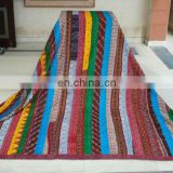 patola silk strip kantha quilt