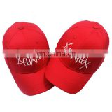 Wholesale Fashion Cheap Custom Promotion Embroidery Cotton Red Baseball Cap