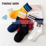 2018 china wholesale winter comfortable soft unisex children fashion cotton socks custom with logo